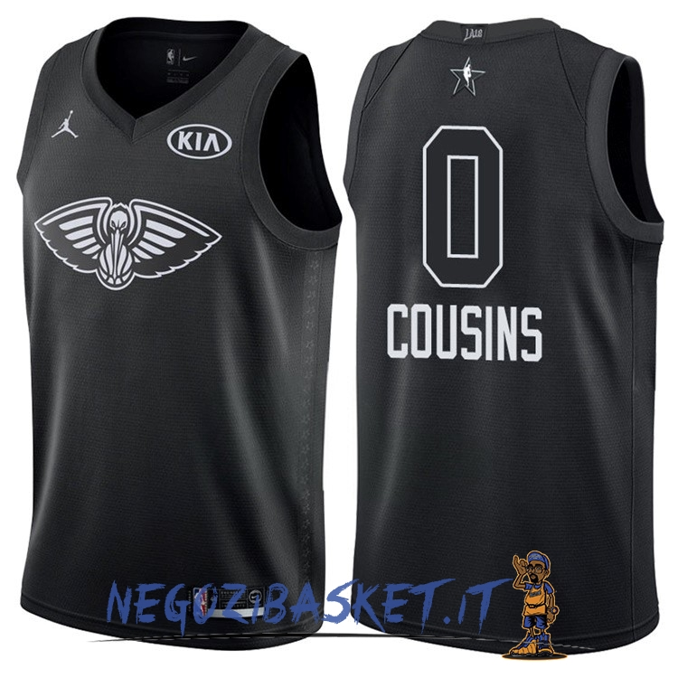 Promo Maglia NBA 2018 All Star NO.0 DeMarcus Cousins Nero