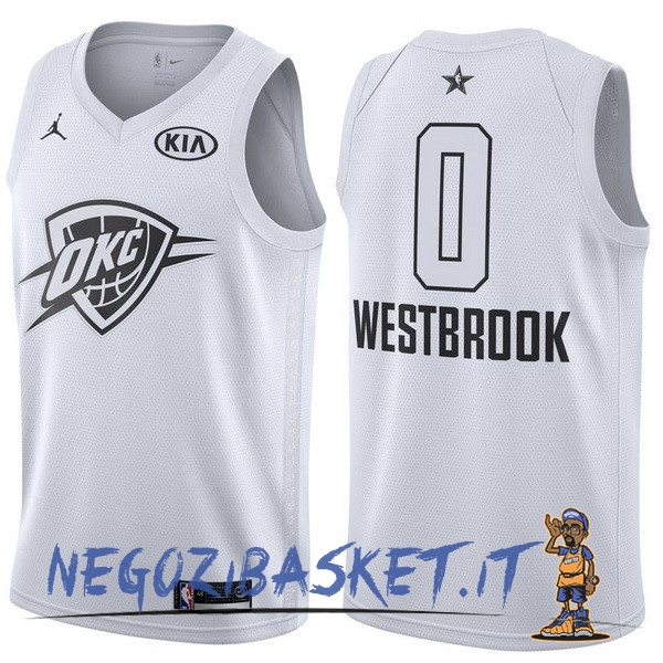 Promo Maglia NBA 2018 All Star NO.0 Russell Westbrook Bianco