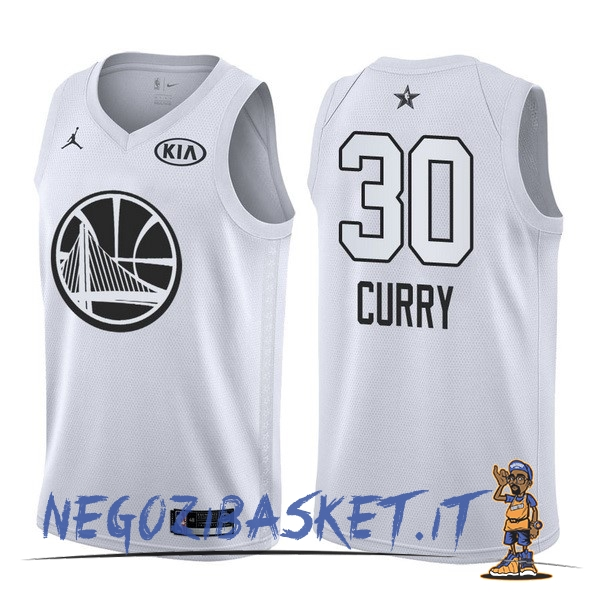Promo Maglia NBA 2018 All Star NO.30 Stephen Curry Bianco