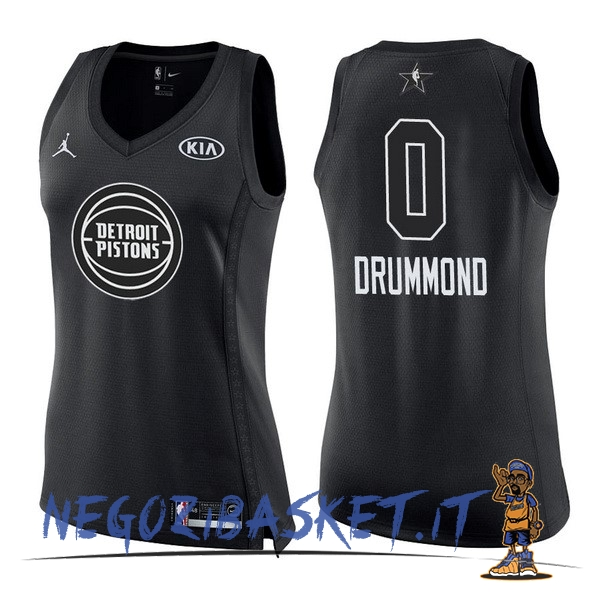 Promo Maglia NBA Donna 2018 All Star NO.0 Andre Drummond Nero