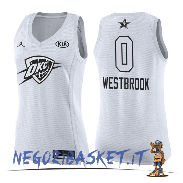Promo Maglia NBA Donna 2018 All Star NO.0 Russell Westbrook Bianco