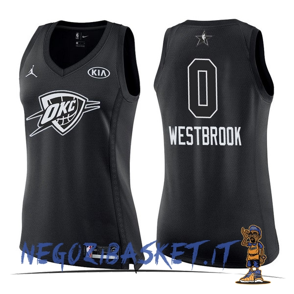 Promo Maglia NBA Donna 2018 All Star NO.0 Russell Westbrook Nero