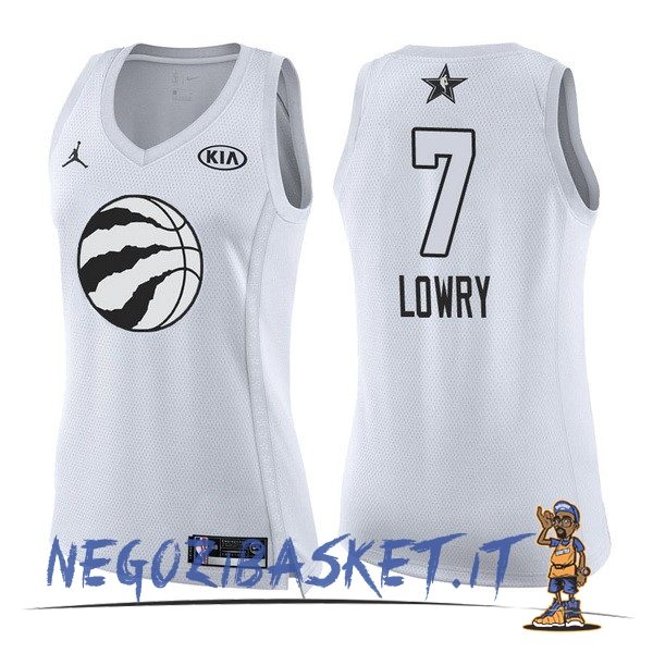 Promo Maglia NBA Donna 2018 All Star NO.7 Kyle Lowry Bianco