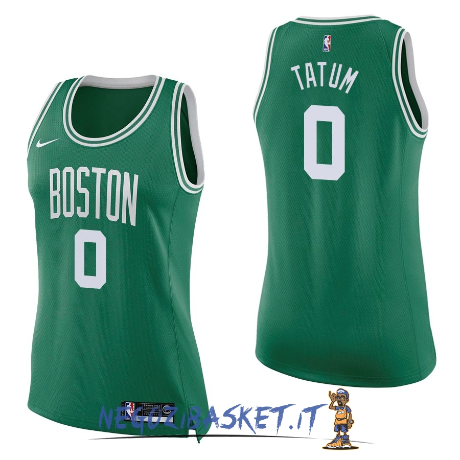 Promo Maglia NBA Donna Boston Celtics NO.0 Jayson Tatum Verde Icon