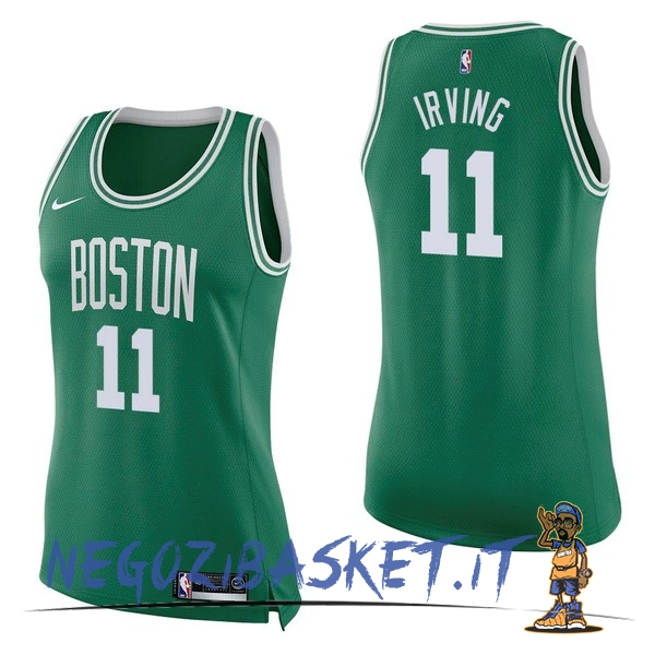 Promo Maglia NBA Donna Boston Celtics NO.11 Kyrie Irving Verde Icon