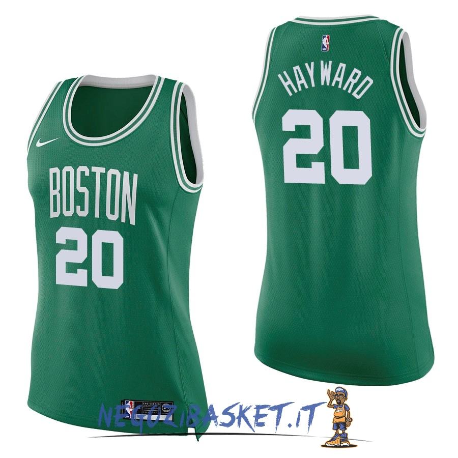 Promo Maglia NBA Donna Boston Celtics NO.20 Gordon Hayward Verde Icon