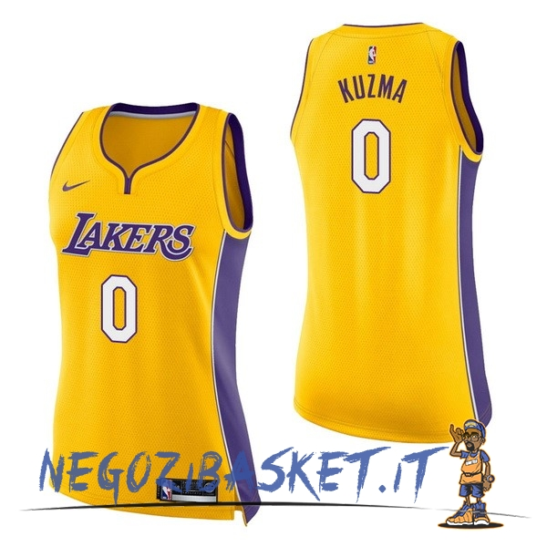 Promo Maglia NBA Donna Los Angeles Lakers NO.0 Kyle Kuzma Giallo Icon
