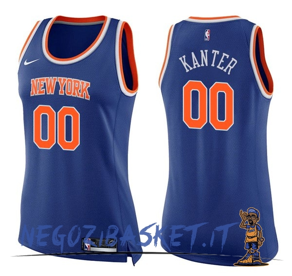Promo Maglia NBA Donna New York Knicks NO.0 Enes Kanter Blu Icon