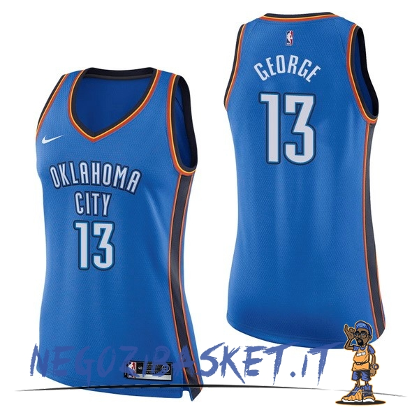 Promo Maglia NBA Donna Oklahoma City Thunder NO.13 Paul George Blu Icon