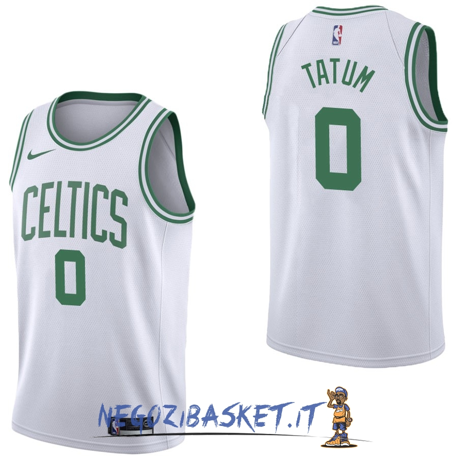Promo Maglia NBA Nike Boston Celtics NO.0 Jayson Tatum Bianco Association