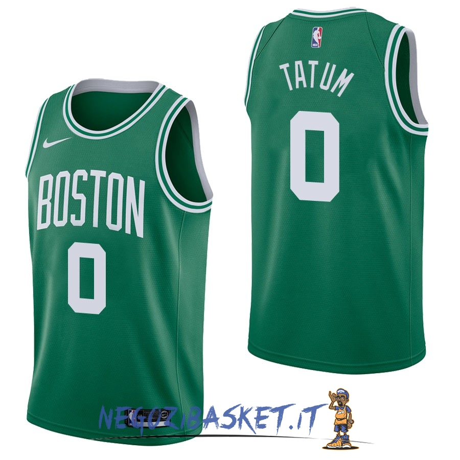 Promo Maglia NBA Nike Boston Celtics NO.0 Jayson Tatum Verde Icon