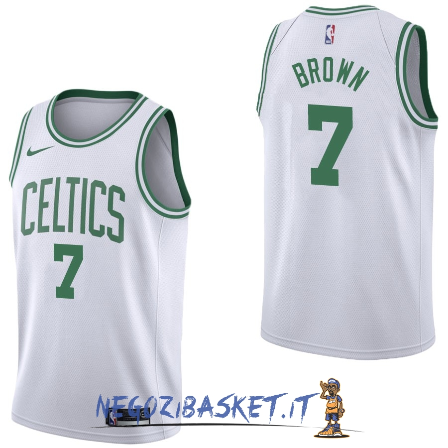 Promo Maglia NBA Nike Boston Celtics NO.7 Jaylen Brown Bianco Association