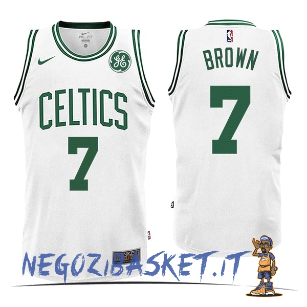 Promo Maglia NBA Nike Boston Celtics NO.7 Jaylen Brown Bianco