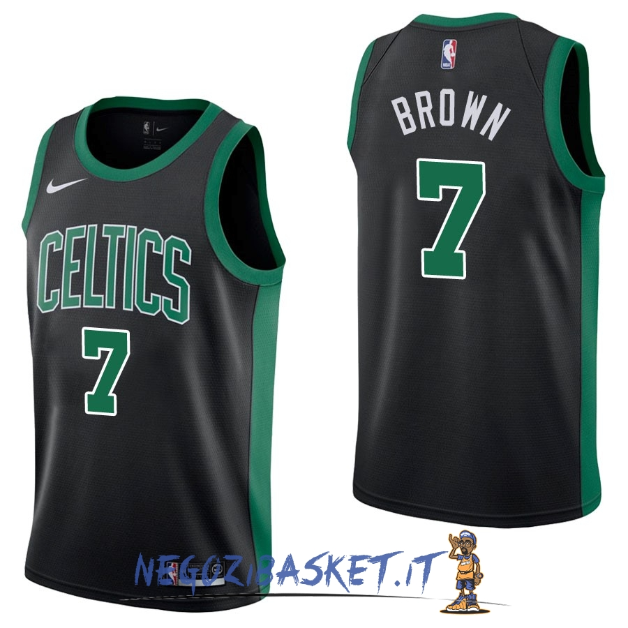 Promo Maglia NBA Nike Boston Celtics NO.7 Jaylen Brown Nero Statement