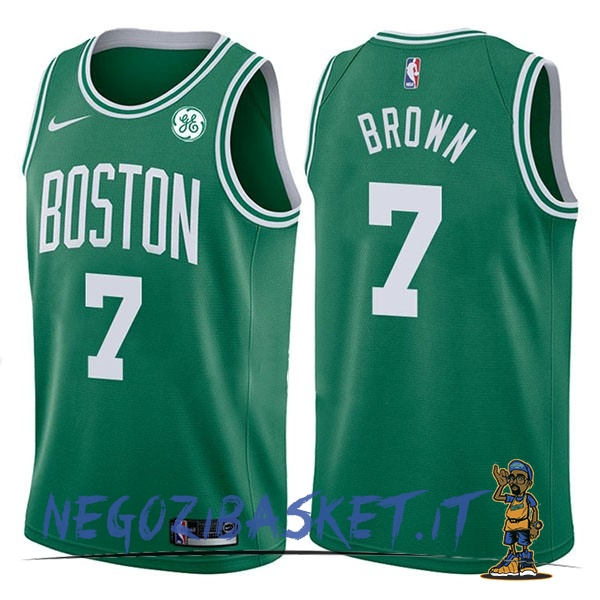 Promo Maglia NBA Nike Boston Celtics NO.7 Jaylen Brown Verde