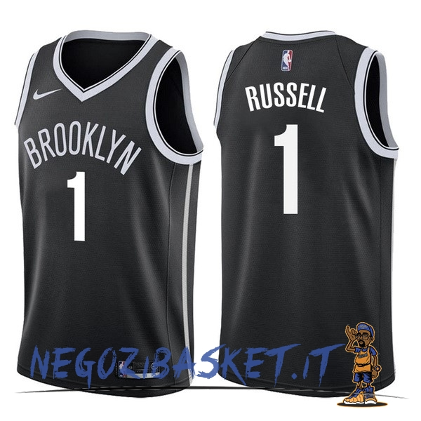 Promo Maglia NBA Nike Brooklyn Nets NO.1 D'Angelo Russell Nero Icon