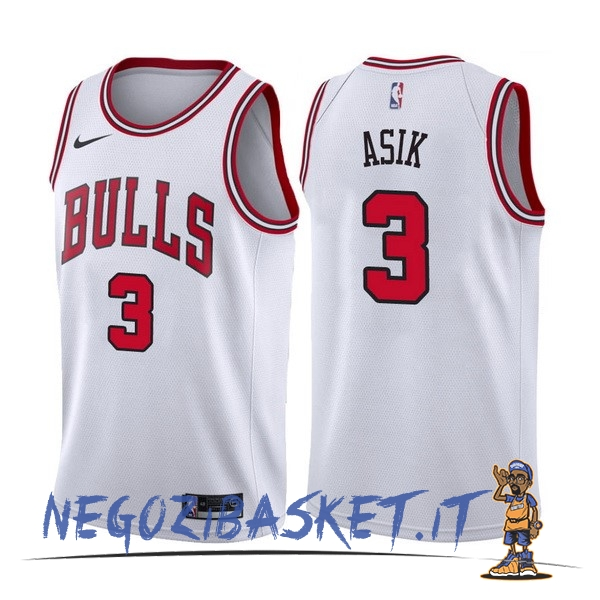 Promo Maglia NBA Nike Chicago Bulls NO.3 Dwyane Wade Bianco Association
