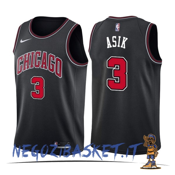 Promo Maglia NBA Nike Chicago Bulls NO.3 Dwyane Wade Nero Statement