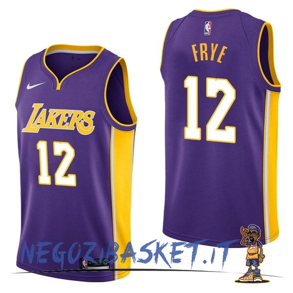 Promo Maglia NBA Nike Los Angeles Lakers NO.12 Channing Frye Porpora Statement