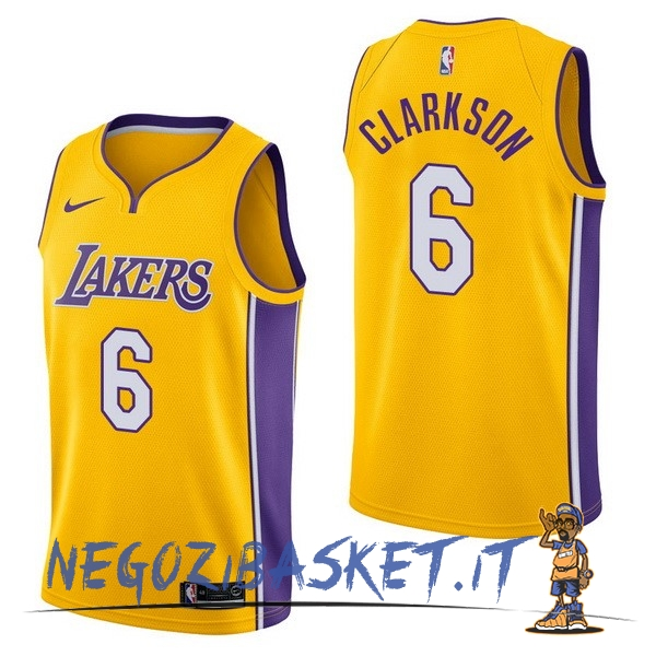 Promo Maglia NBA Nike Los Angeles Lakers NO.6 Jordan Clarkson Giallo Icon