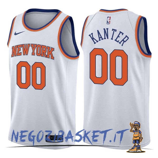 Promo Maglia NBA Nike New York Knicks NO.0 Enes Kanter Bianco Association