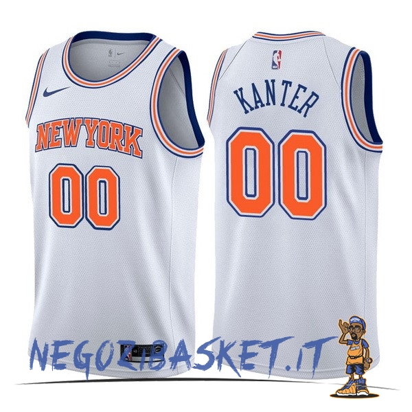 Promo Maglia NBA Nike New York Knicks NO.0 Enes Kanter Bianco Statement