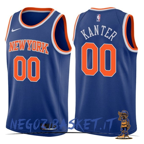 Promo Maglia NBA Nike New York Knicks NO.0 Enes Kanter Blu Icon