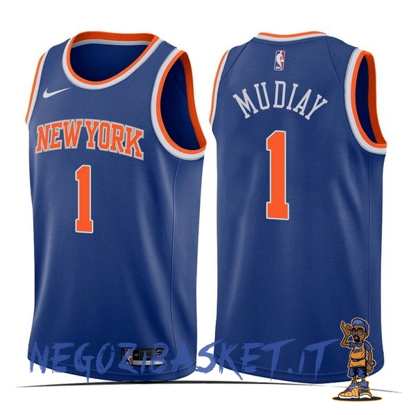 Promo Maglia NBA Nike New York Knicks NO.1 Emmanuel Mudiay Blu Icon