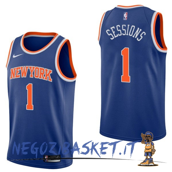 Promo Maglia NBA Nike New York Knicks NO.1 Ramon Sessions Blu Icon