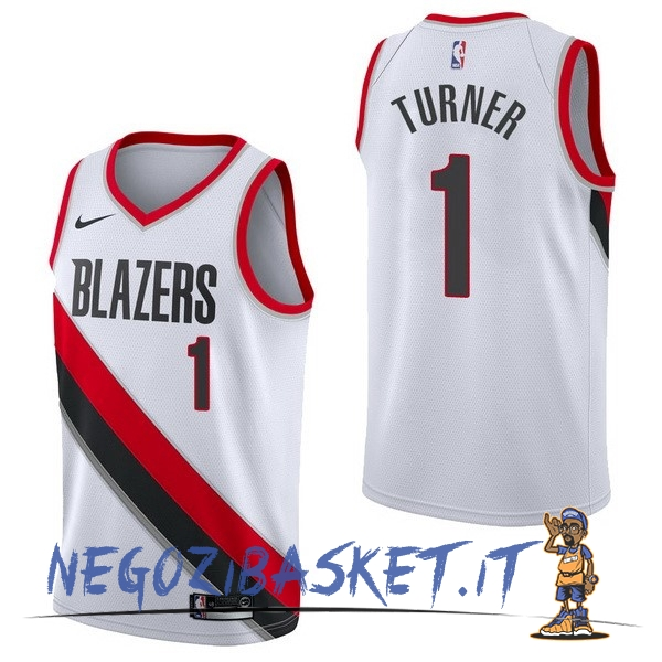 Promo Maglia NBA Nike Portland Trail Blazers NO.1 Evan Turner Bianco Association