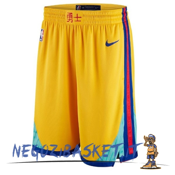 Promo Pantaloni Basket Golden State Warriors Giallo Città