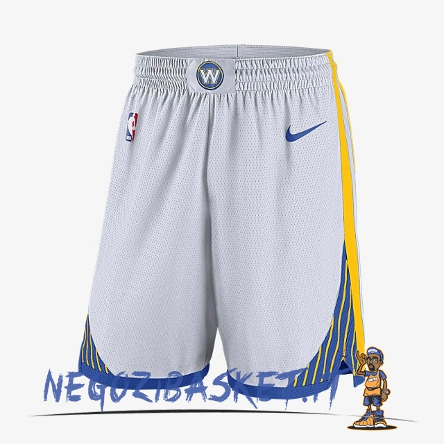 Promo Pantaloni Basket Golden State Warriors Nike Bianco