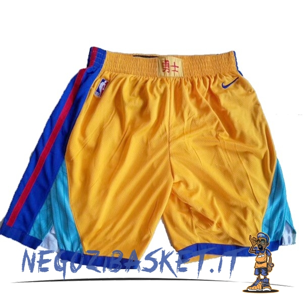 Promo Pantaloni Basket Golden State Warriors Nike Giallo
