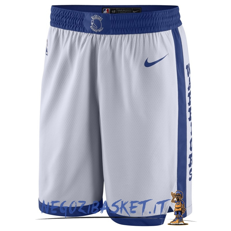 Promo Pantaloni Basket Golden State Warriors Nike Retro Bianco