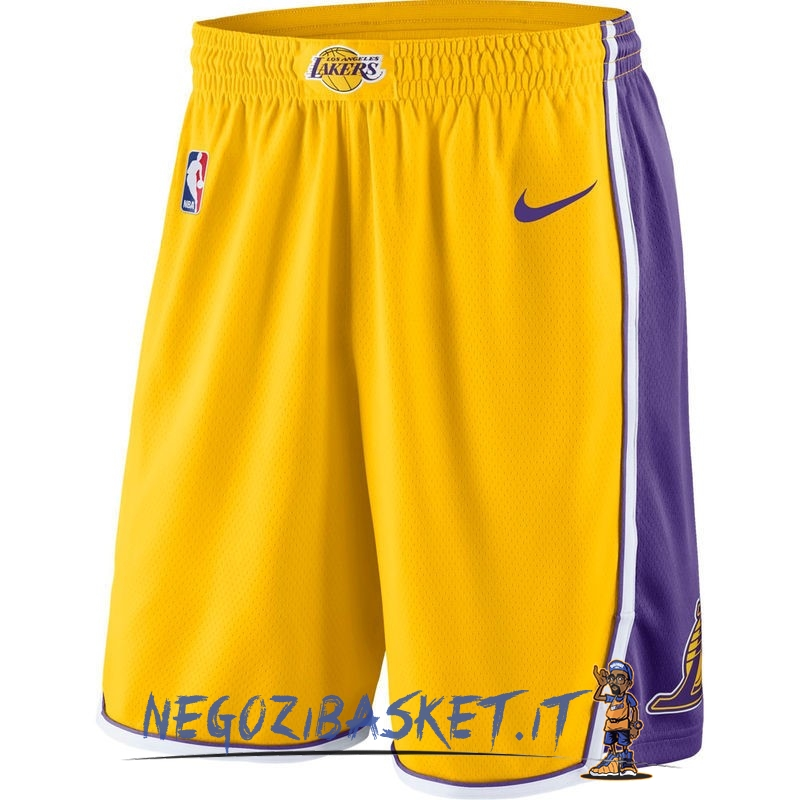 Promo Pantaloni Basket Los Angeles Lakers Nike Giallo