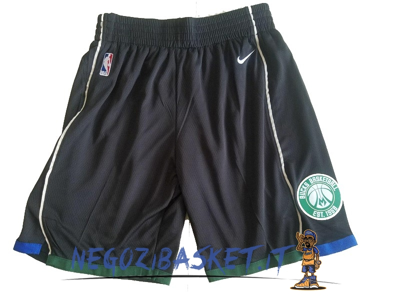 Promo Pantaloni Basket Milwaukee Bucks Nike Nero