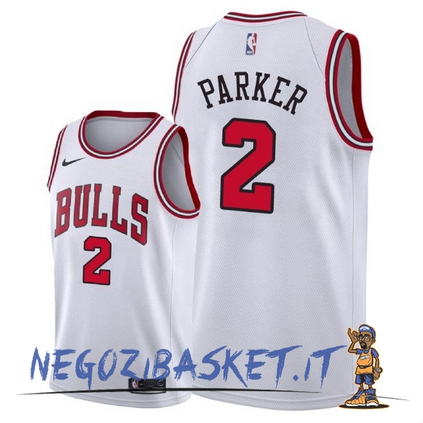 Promo Maglia NBA Nike Chicago Bulls NO.2 Jabari Parker Bianco Association 2018