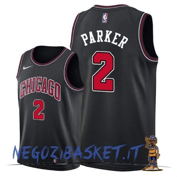 Promo Maglia NBA Nike Chicago Bulls NO.2 Jabari Parker Nero Statement 2018