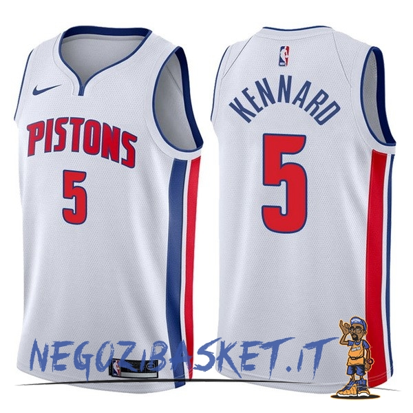 Promo Maglia NBA Nike Detroit Pistons NO.5 Luke Kennard Bianco Association 2017-18