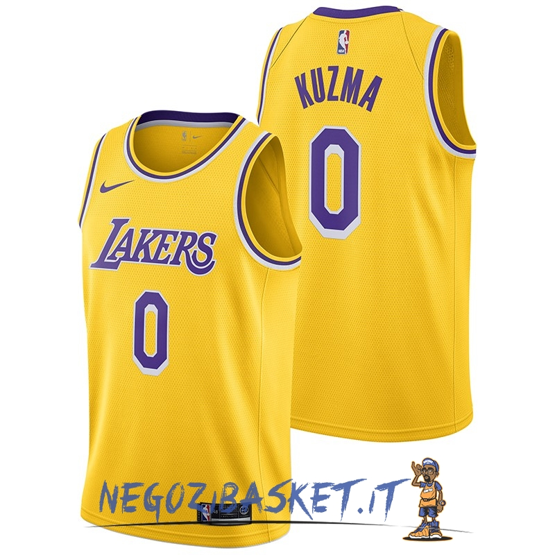 Promo Maglia NBA Nike Los Angeles Lakers NO.0 Kyle Kuzma Giallo Icon 2018-19