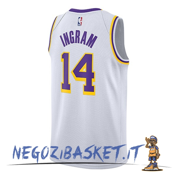 Promo Maglia NBA Nike Los Angeles Lakers NO.14 Brandon Ingram Bianco 2018-19