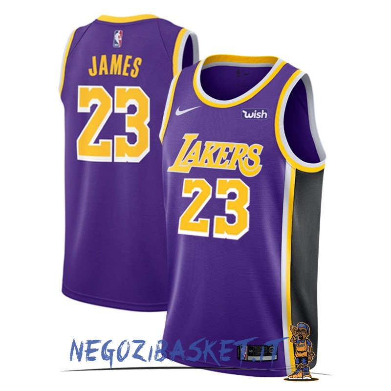 Promo Maglia NBA Nike Los Angeles Lakers NO.23 Lebron James Porpora 2018-19