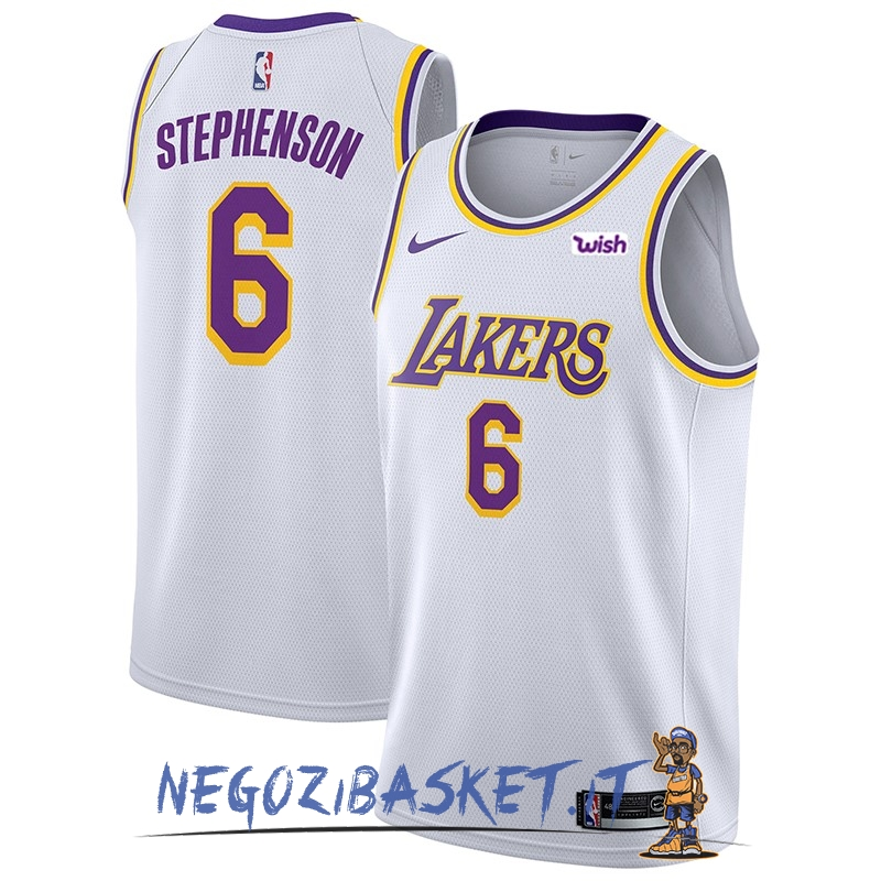 Promo Maglia NBA Nike Los Angeles Lakers NO.6 Lance Stephenson Bianco 2018-19