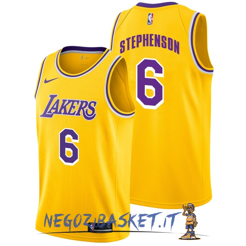 Promo Maglia NBA Nike Los Angeles Lakers NO.6 Lance Stephenson Giallo Icon 2018-19