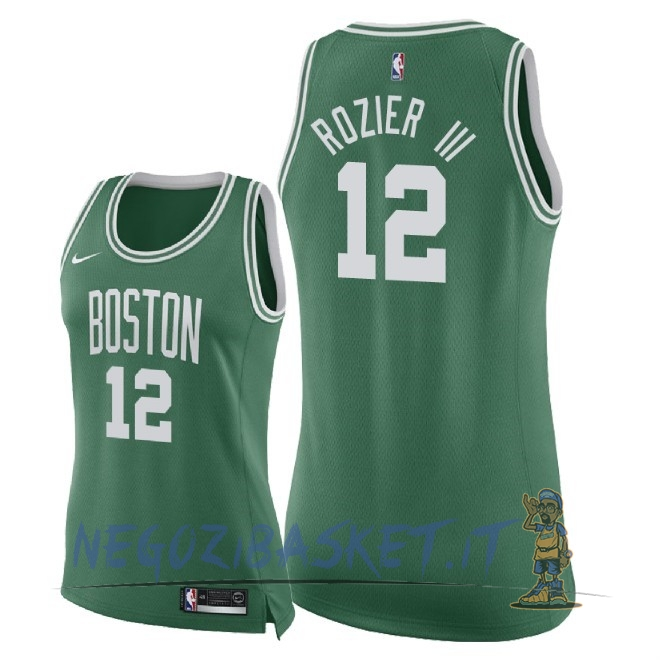 Promo Maglia NBA Donna Boston Celtics NO.12 Terry Rozier III Verde Icon 2018