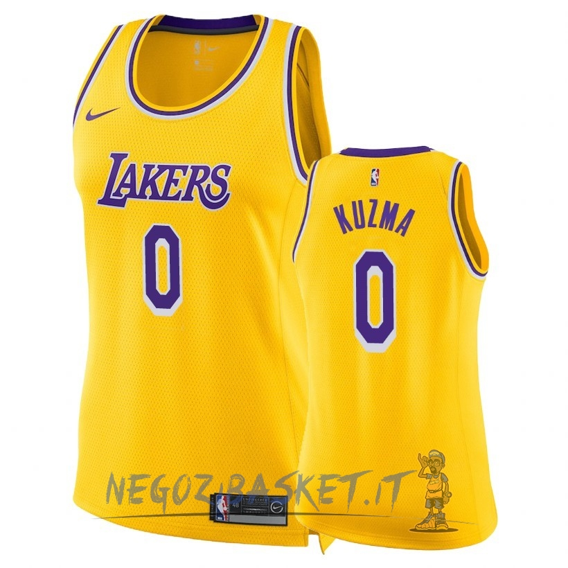 Promo Maglia NBA Donna Los Angeles Lakers NO.0 Kyle Kuzma Giallo Icon 2018-19