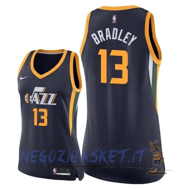 Promo Maglia NBA Donna Utah Jazz NO.13 Tony Bradley Marino Icon 2018