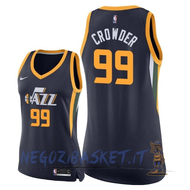 Promo Maglia NBA Donna Utah Jazz NO.99 Jae Crowder Marino Icon 2018