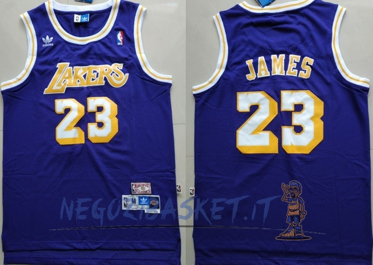 Promo Maglia NBA Los Angeles Lakers NO.23 Lebron James Retro Porpora