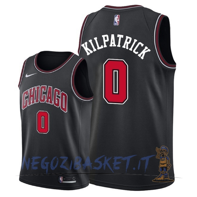 Promo Maglia NBA Nike Chicago Bulls NO.0 Sean Kilpatrick Nero Statement 2018